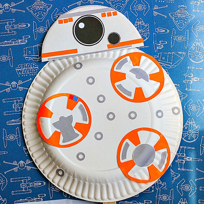 BB8 Paper Plate Craft For Kids