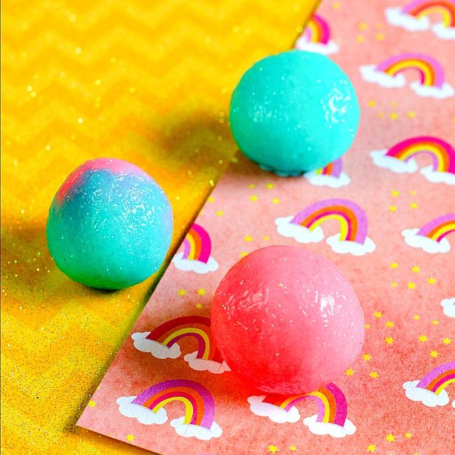 Handmade Glow in the dark bouncy balls