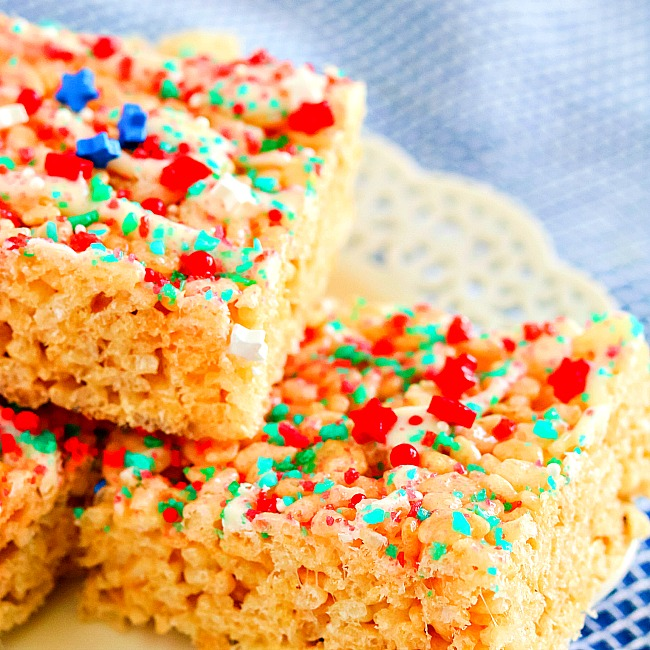 Pop Rocks Firecracker Rice Krispie Treats