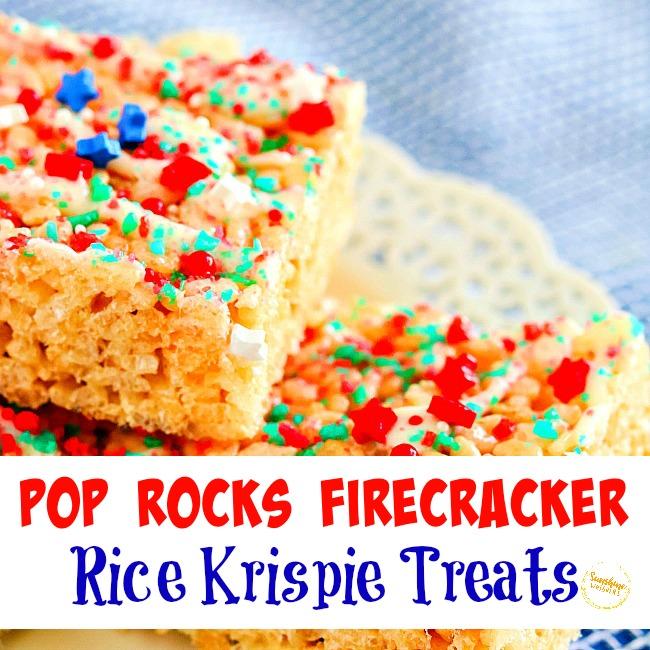Pop Rocks Firecracker Rice Krispie Treats