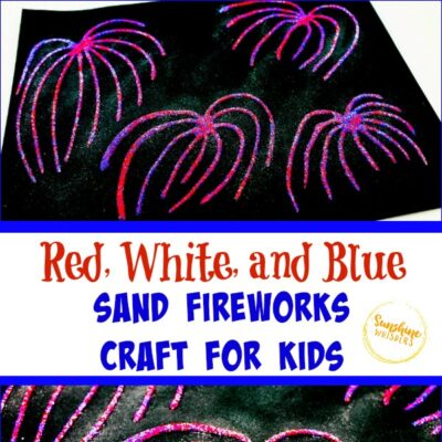 Red, White, and Blue Sand Fireworks Craft For Kids