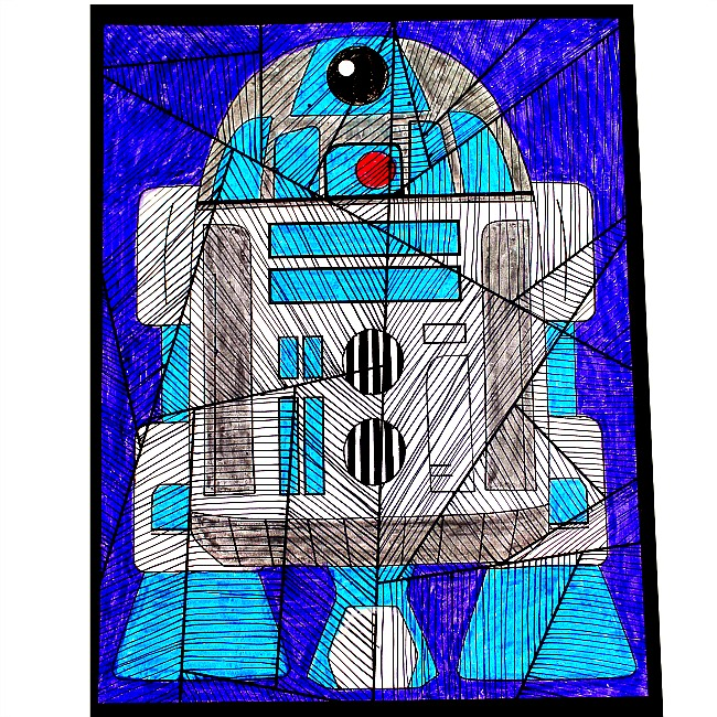 Star Wars R2-D2 Paper Craft For Kids