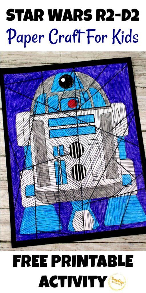 Star Wars R2-D2 Paper Craft For Kids