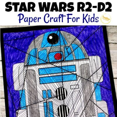 Star Wars R2-D2 Paper Craft For Kids (FREE Printable)
