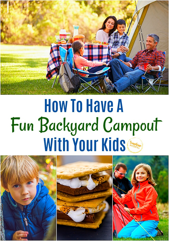 backyard campout with kids
