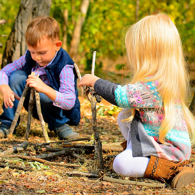 ways to use nature for kids crafts