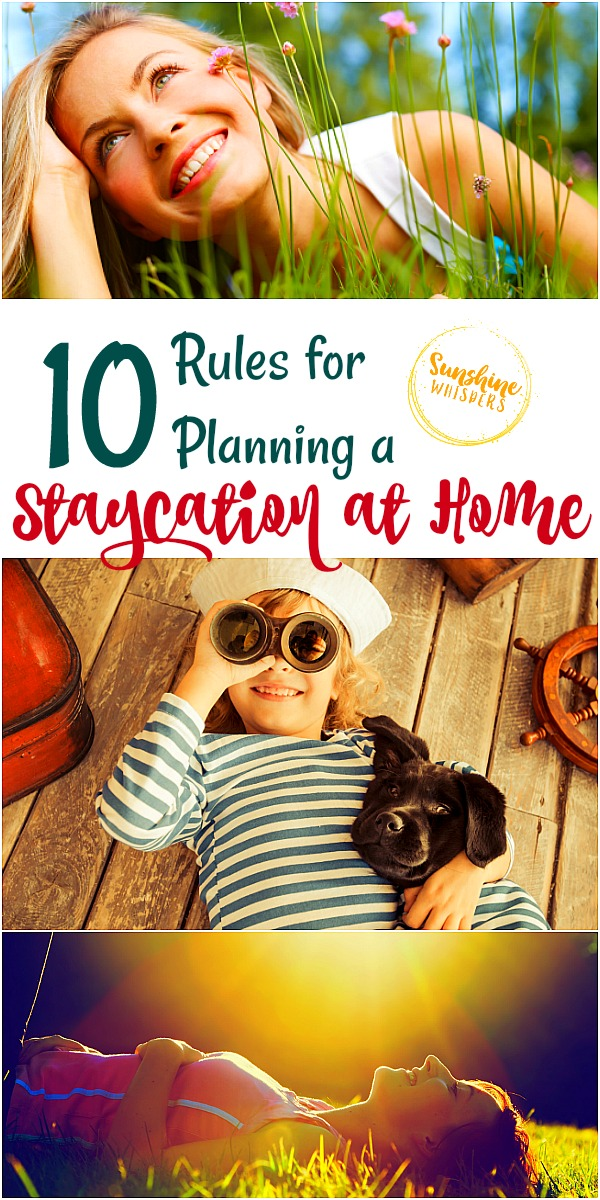 planning a staycation at home