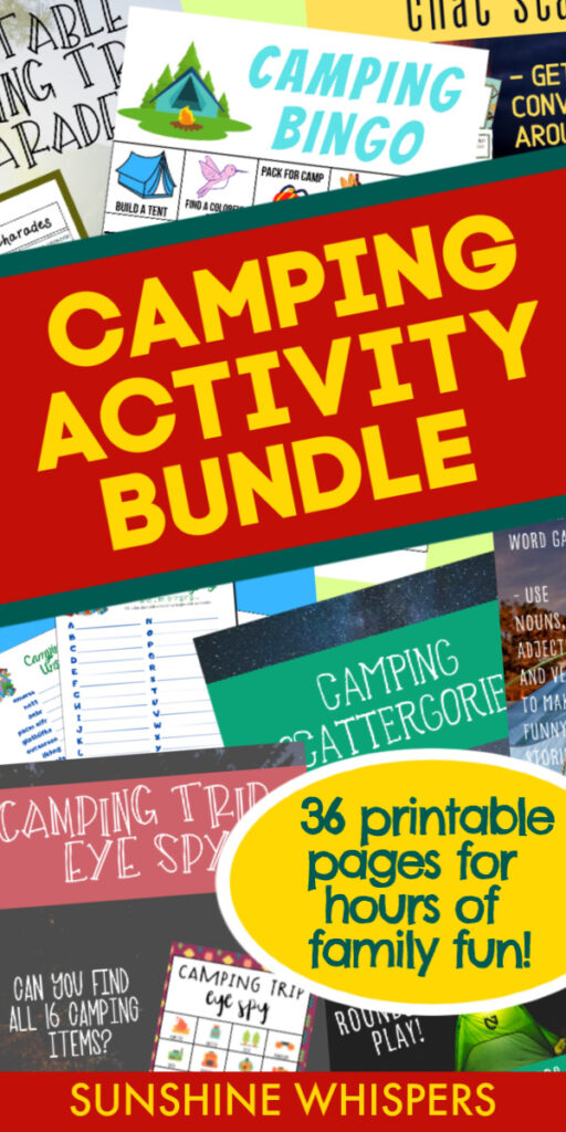 camping games and activity printable pack