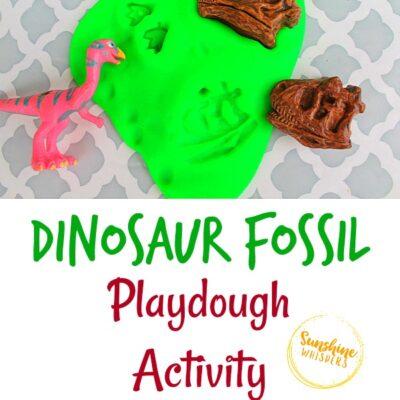 Dinosaur Fossil Playdough Activity