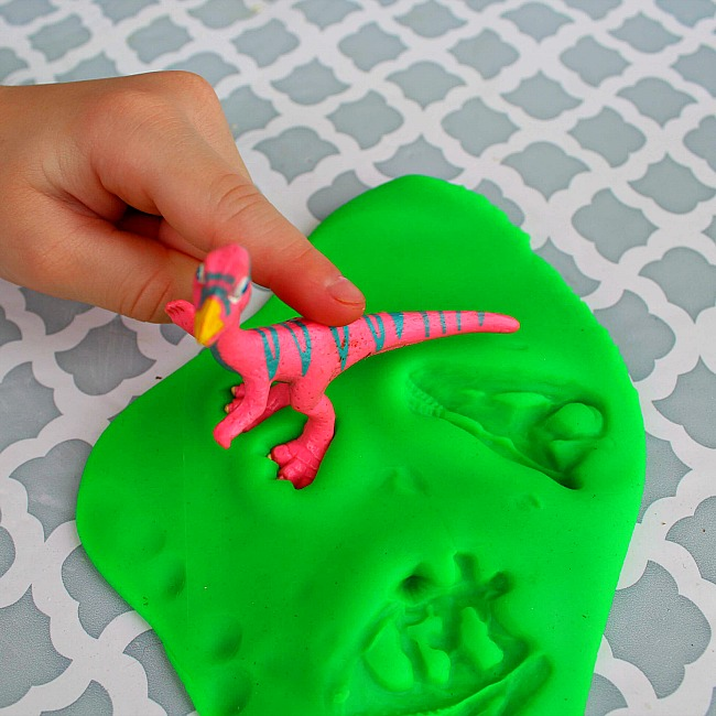 Dinosaur Fossil Playdough Activity