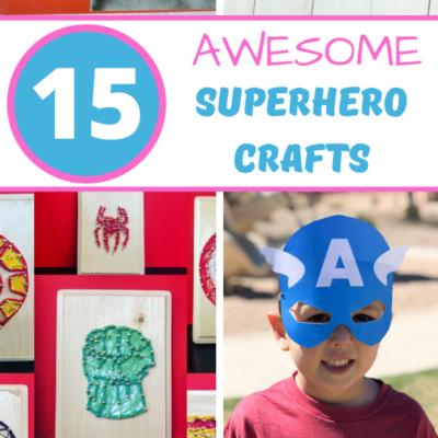 15+ Amazing Superhero Crafts For Kids