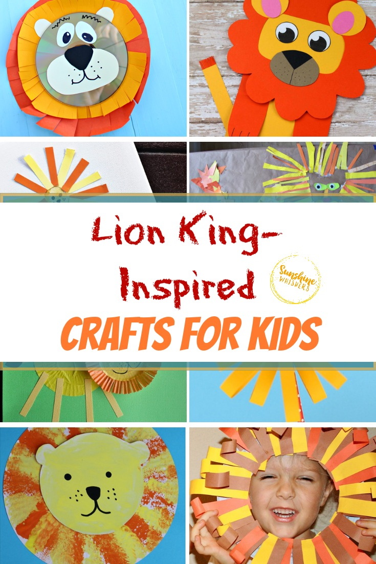 lion king inspired crafts for kids