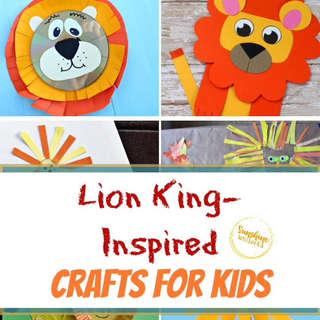 lion king inspired crafts for kids
