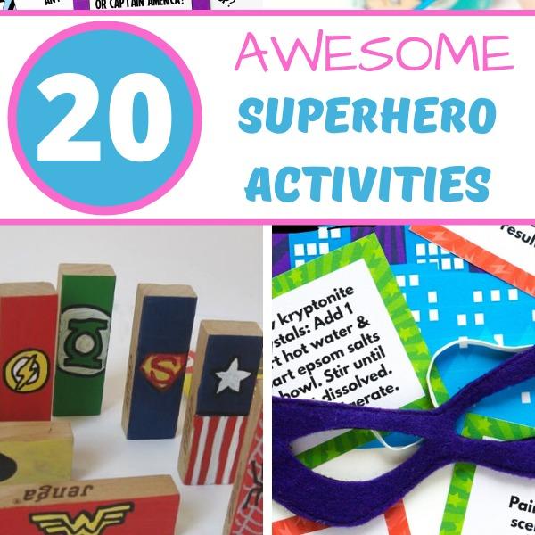 superhero activities for kids