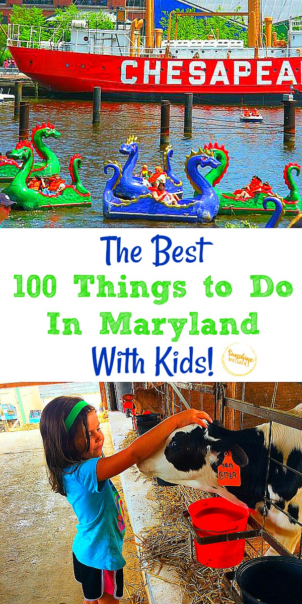 best 100 things to do in Maryland with kids