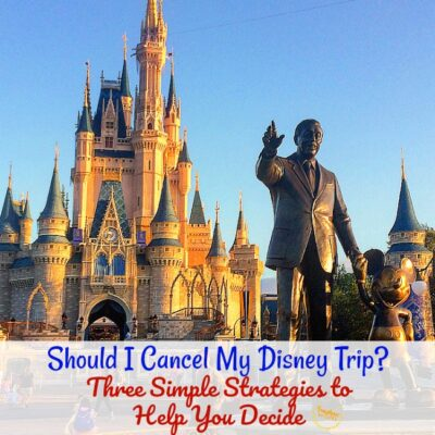 Should I Cancel My Disney Trip? Three Simple Strategies to Help You Decide