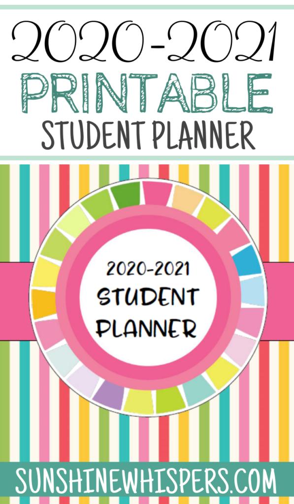2020-2021 Student Planner