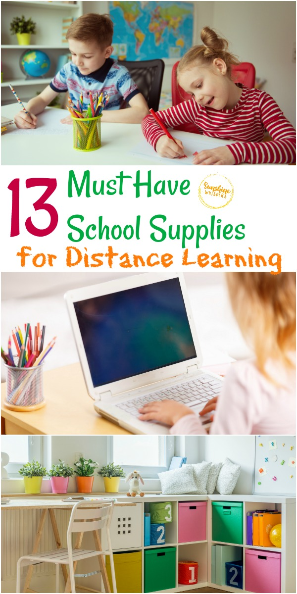 School supplies for distance learning