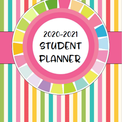 Super Cute Printable Student Planner for 2020-2021 School Year