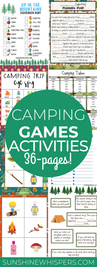 camping games activity pack