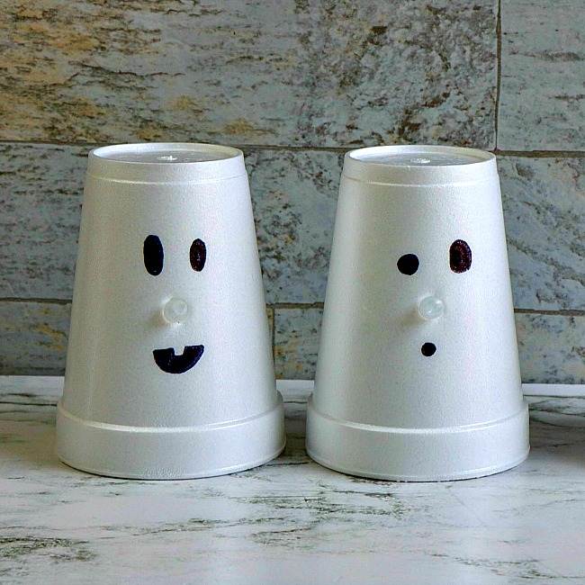 ghost cup craft for kids