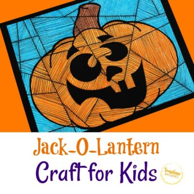 Jack-O-Lantern Coloring Activity Craft for Kids (with FREE Template)