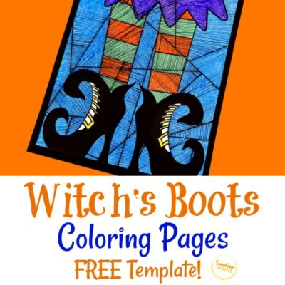 Witch's Boots Coloring Pages Craft For Kids