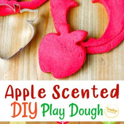 DIY Apple Scented Playdough