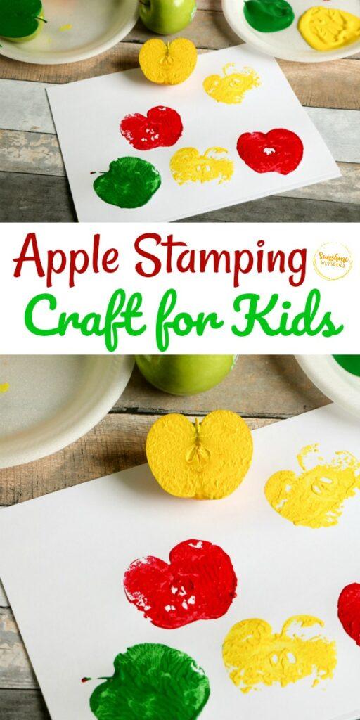 apple stamping craft
