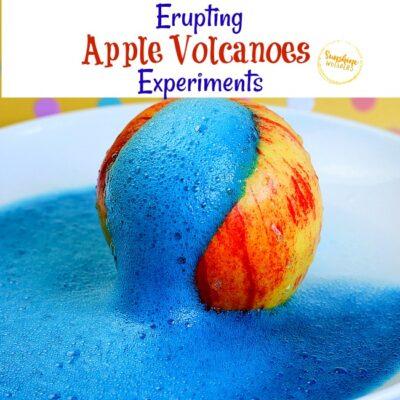 Erupting Apple Volcanoes Experiment