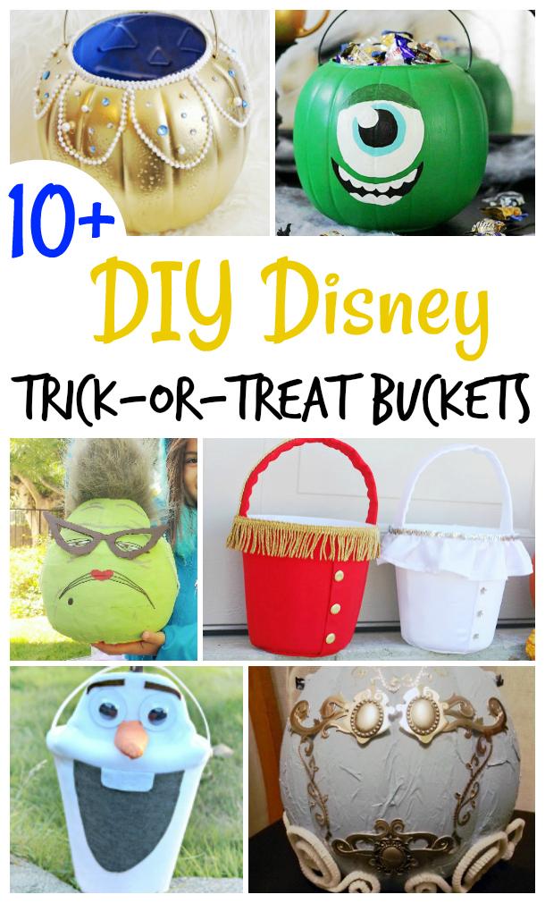 DIY Disney Trick or Treat Buckets