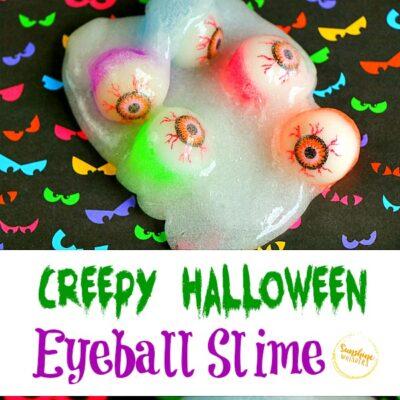 Creepy Halloween Eyeball Slime