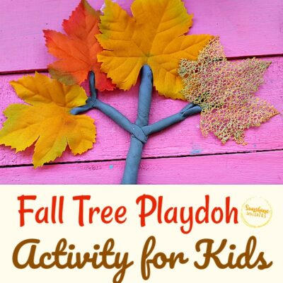 Simple Fall Tree Play Doh Activity For Kids