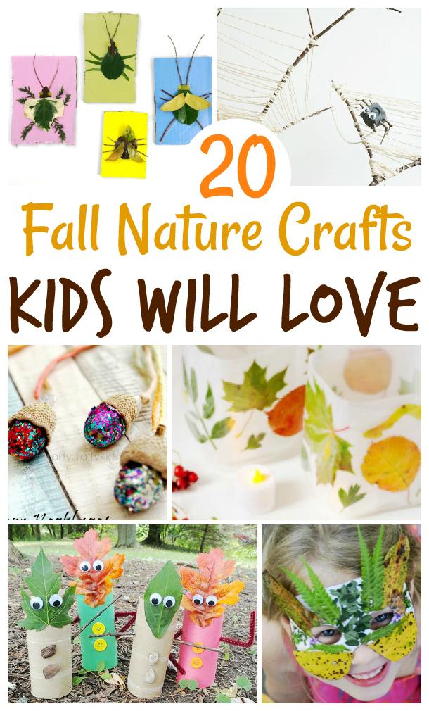 Fall nature crafts