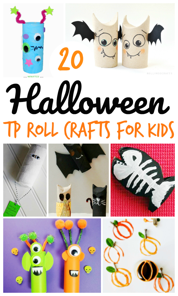 Halloween Toilet Paper Roll Crafts For Kids