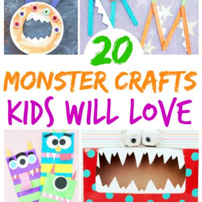 Ferocious Monster Crafts Kids Will Love