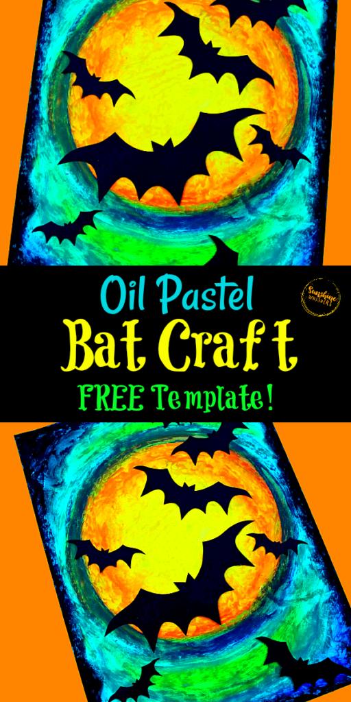 oil pastel bat craft
