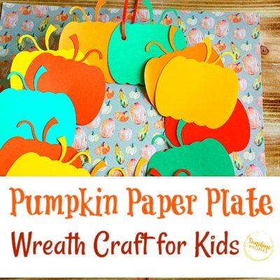 Pumpkin Paper Plate Wreath Craft For Kids