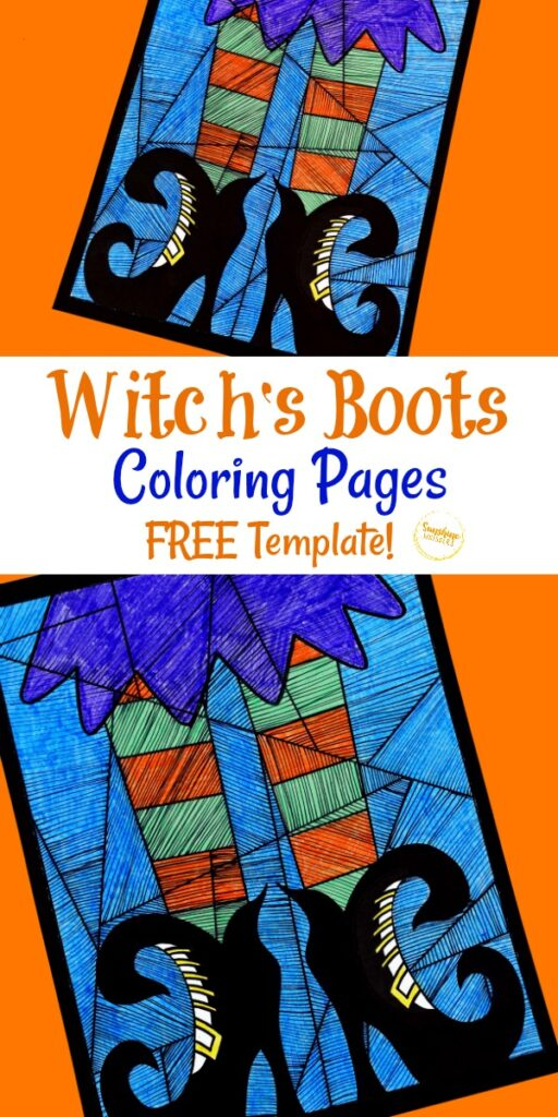 Witch's Boots Coloring Pages