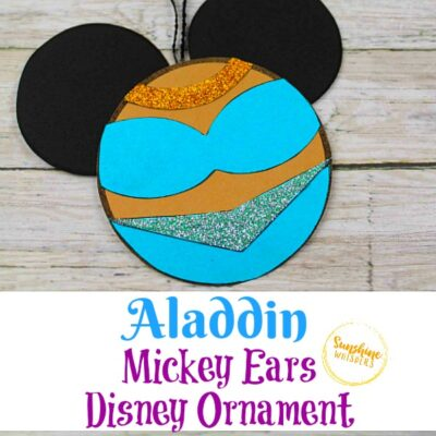 Aladdin Mickey Ears Disney Ornament Craft