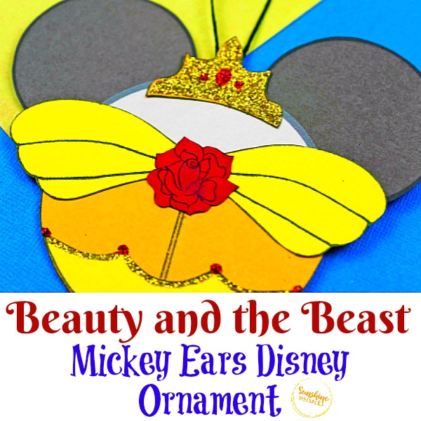 Beauty and the Beast Mickey Ears Disney Ornament Craft