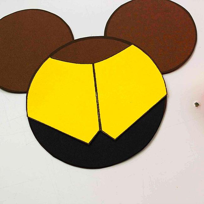Beauty and the Beast Mickey Ears Disney Ornament
