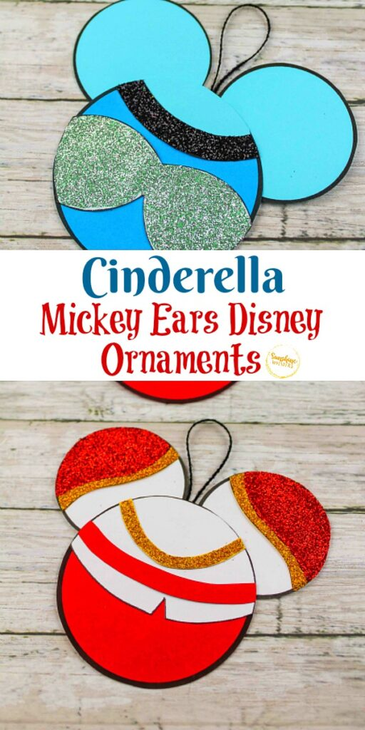 Cinderella Mickey Ears Disney Ornament