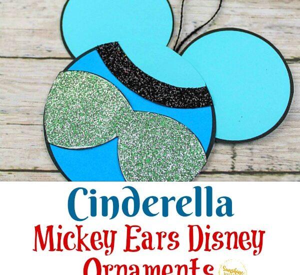 Cinderella Mickey Ears Disney Ornament