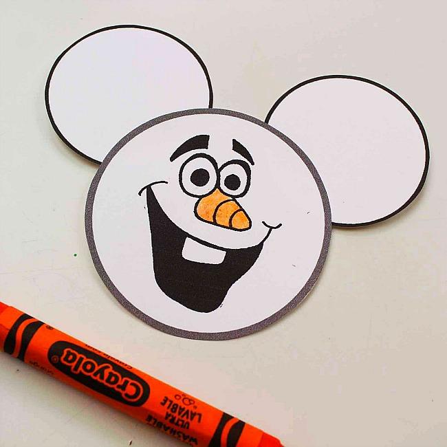 Olaf Mickey Ears Disney Ornaments