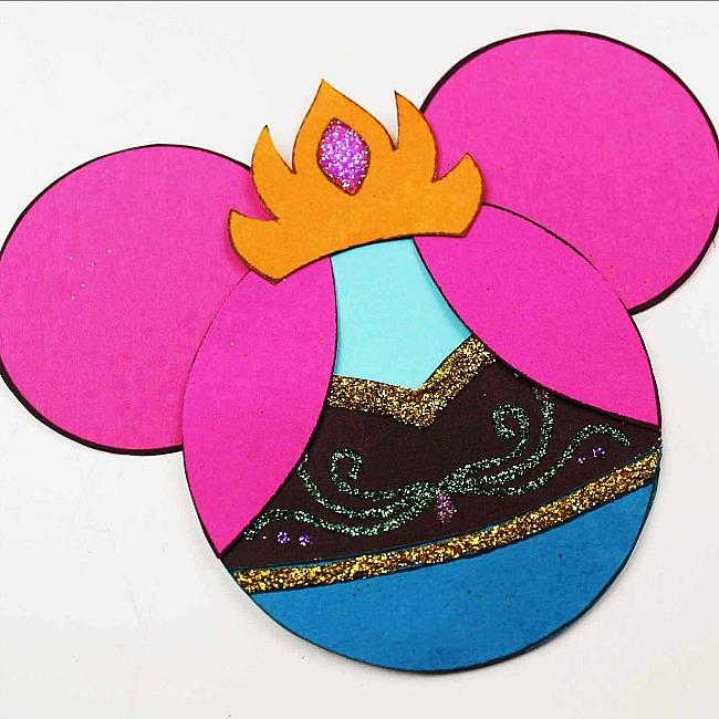 Anna Mickey Ears Disney Ornaments