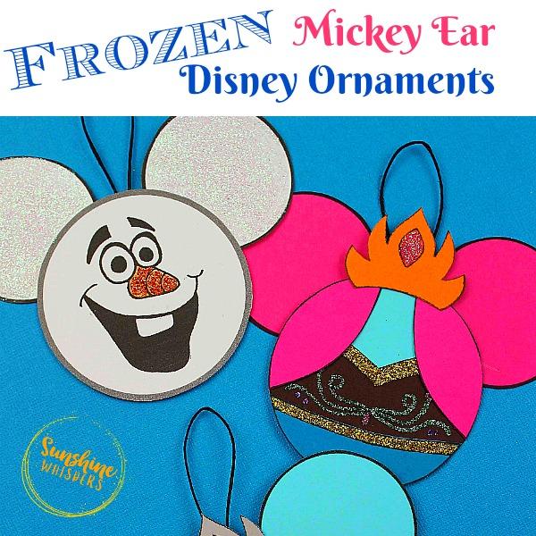 Frozen Mickey Ears Disney Ornaments