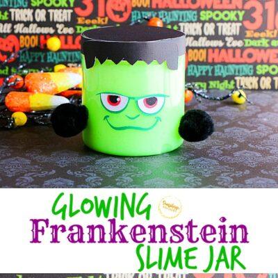 Glowing Frankenstein Slime Jar