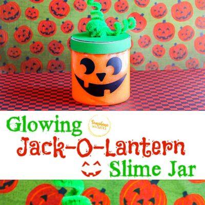Glowing Jack-O-Lantern Slime Jar