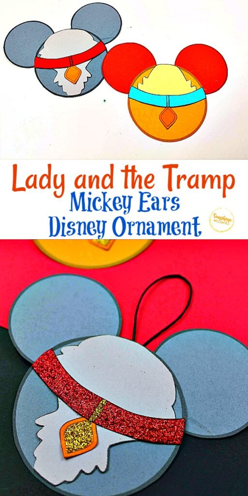 Lady and the Tramp Mickey Ears Disney Ornament